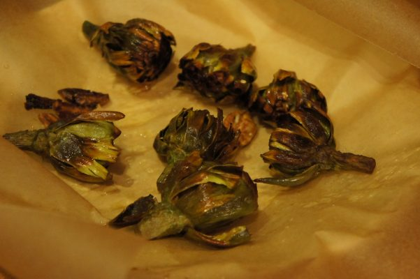 Fried Baby Artichokes