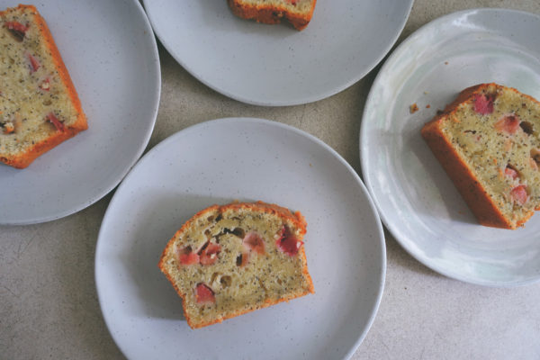Rhubarb Poppy Seed Bread | Serious Crust by Annie Fassler