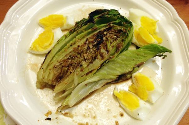 Grilled Romaine Hearts (with a 9-minute egg) // Serious Crust