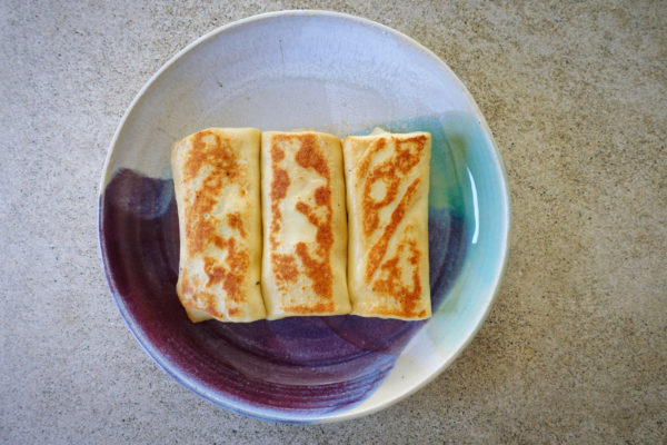 Spring Pea Blintzes   Serious Crust by Annie Fassler