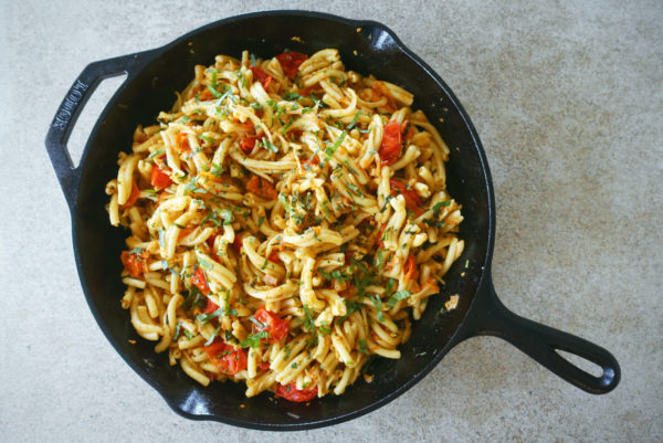 Roasted Tomato & Pancetta Pasta | Serious Crust by Annie Fassler